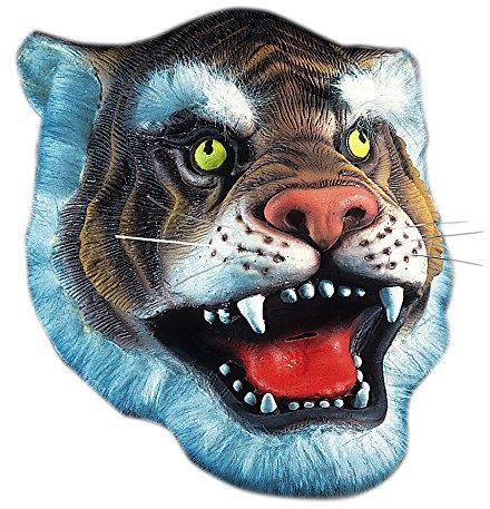 Carnival Toys 1091 - maska Tiger, lateks, żółty/czarny