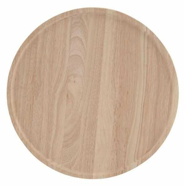 A Simple Mess NATURE Taca Okrągła 40 cm z Drewna Kauczukowego