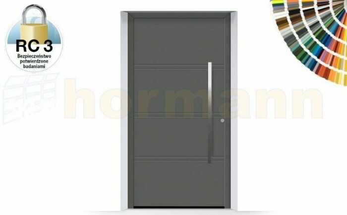 ThermoSafe aluminiowe drzwi zewnętrzne, przeciwwłamaniowe RC 3 - 872, kolory do wyboru