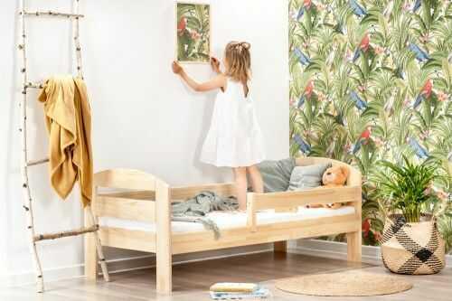 Łóżko 160x80cm BumbleBee pojedyncze kolor sosna