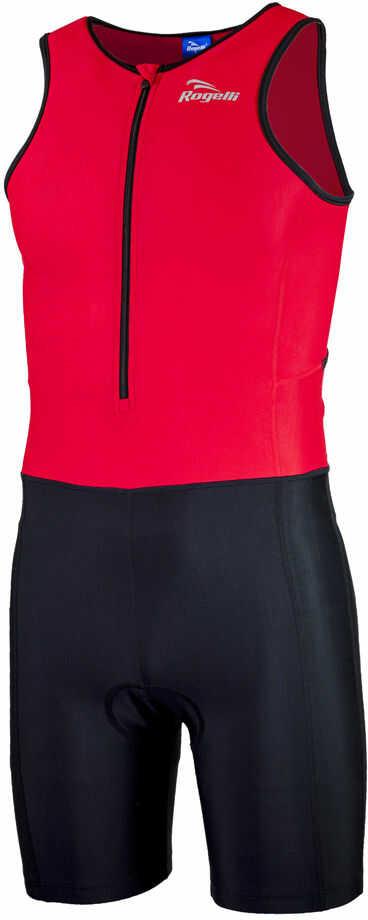 ROGELLI TRI FLORIDA 030.001 męski strój triathlonowy, czerwono-czarny Rozmiar: XS,ROGELLI TRI FLORIDA 030.001-black-red