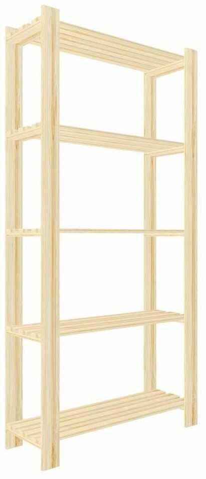 Regał drewniany PIWNICZNY 170 x 80 x 30 cm