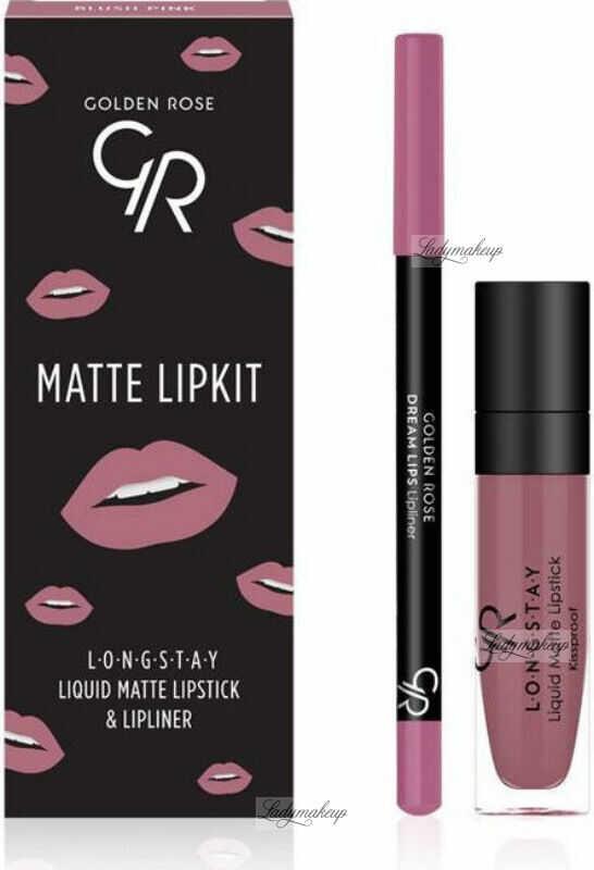 Golden Rose - MATTE LIPKIT - Zestaw do makijażu ust - Pomadka LONGSTAY + konturówka - BLUSH PINK