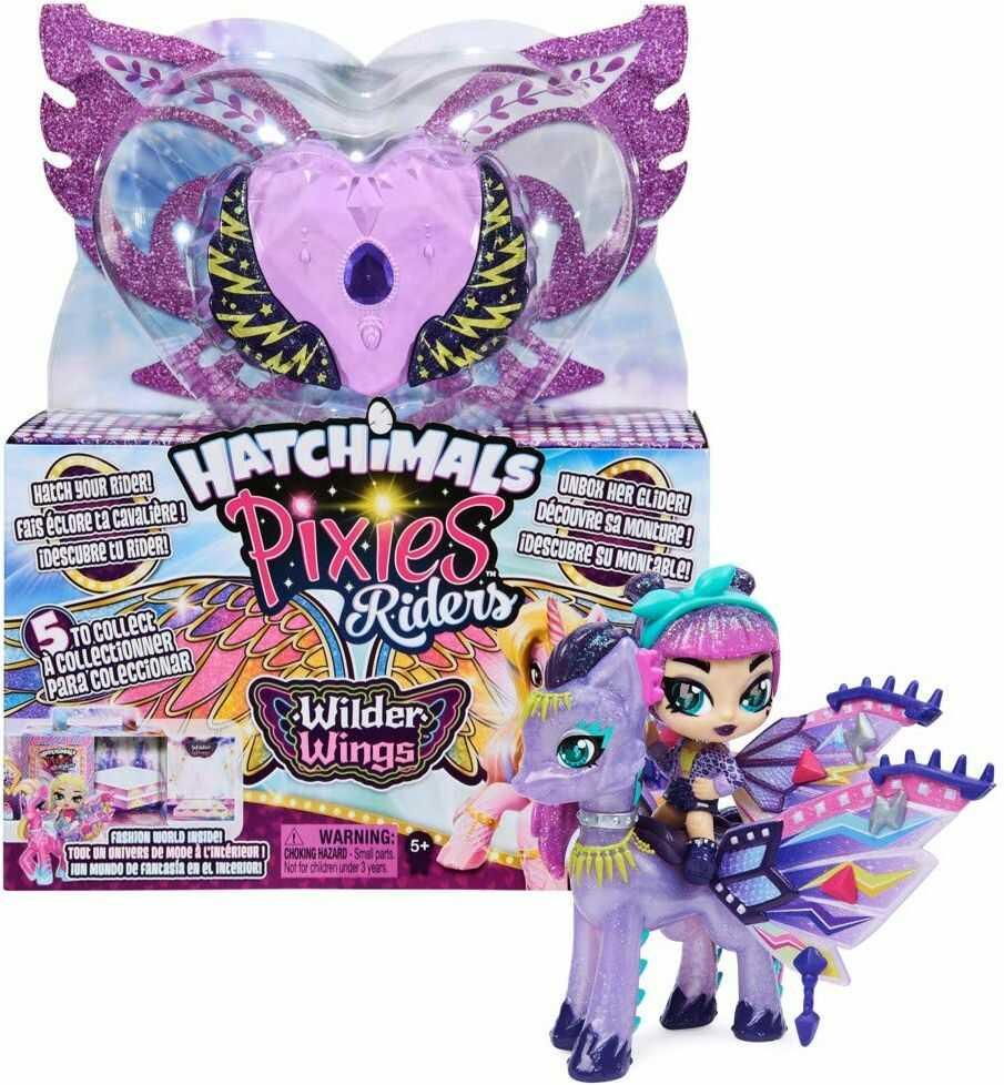Hatchimals 6059691 Pixies Riders - Fantastyczne Stworzenia S21, Losowy Kolor