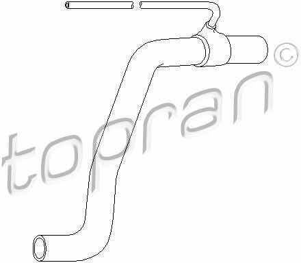 Przewód elastyczny chłodnicy TOPRAN 107 346