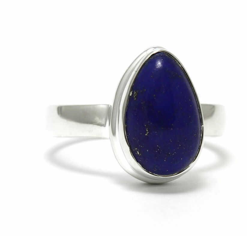 Kuźnia Srebra - Pierścionek srebrny, rozm. 17, Lapis Lazuli, 5g, model