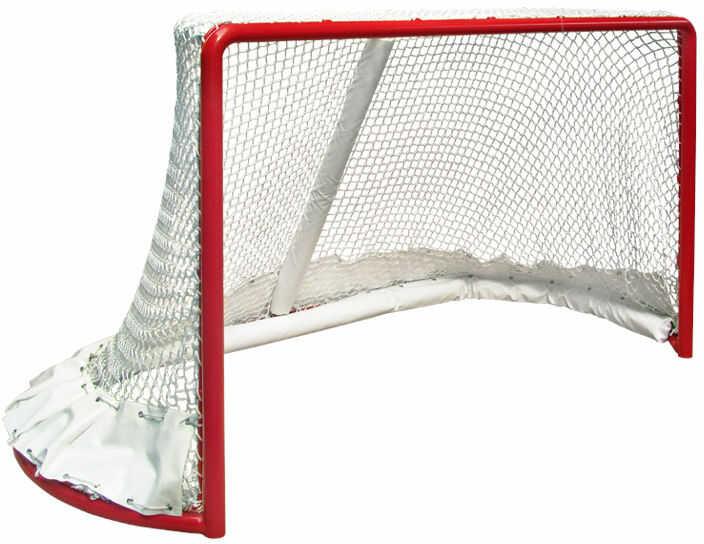 Bramka do hokeja z siatką i osłonami
