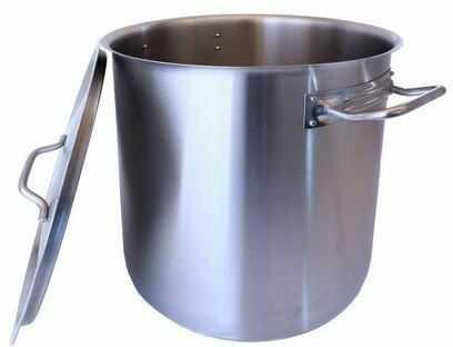 Garnek 70 litrów stalowy wysoki indukcja garnki z pokrywą z dnem wielowarstwowym