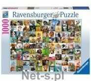 Puzzle Ravensburger 1000 - 99 zabawnych zwierząt, 99 funny animals