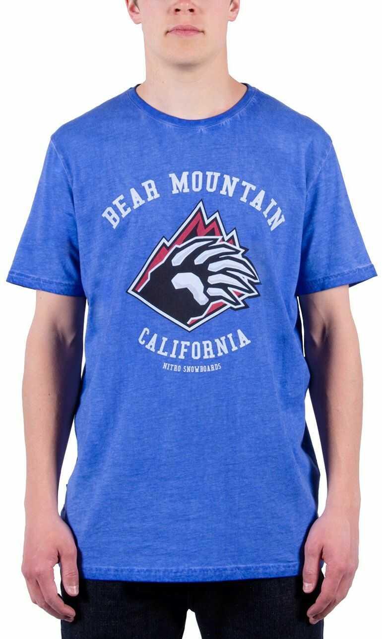 Nitro Męski T-shirt Bear MTN Tee 15, Oiled Blue, S