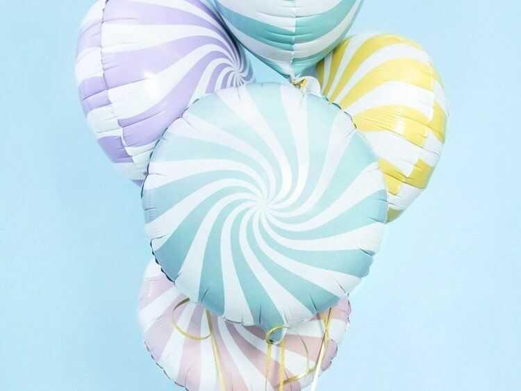 Balon foliowy Cukierek 45cm jasny niebieski FB20P-001J