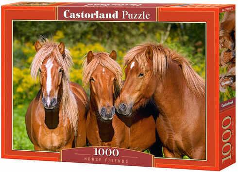 Puzzle Castor 1000 - Trzy konie - Horse Friends