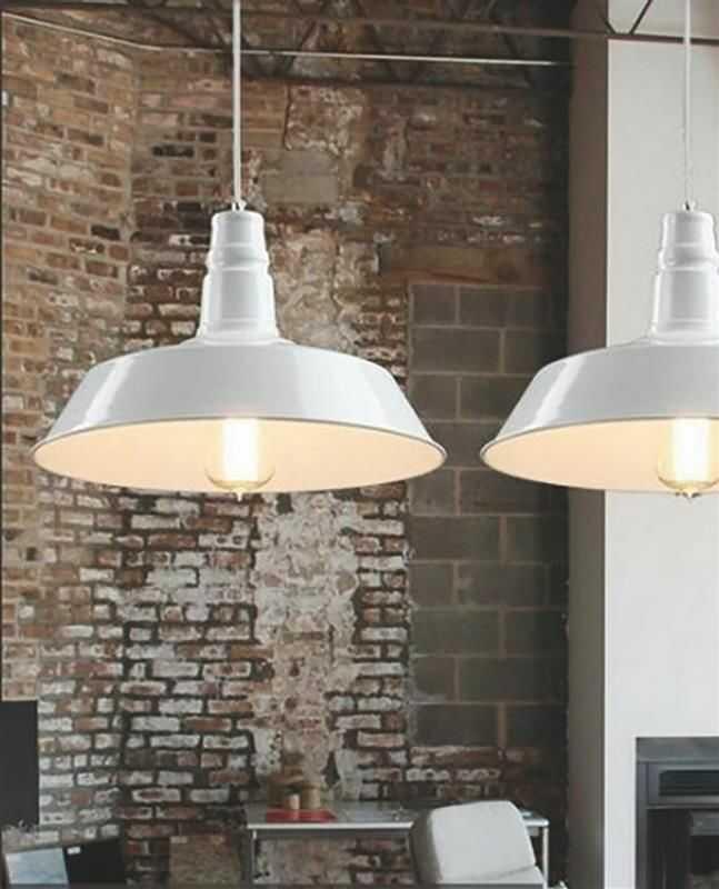 Lumina Deco Saggi industrialna biała lampa wisząca