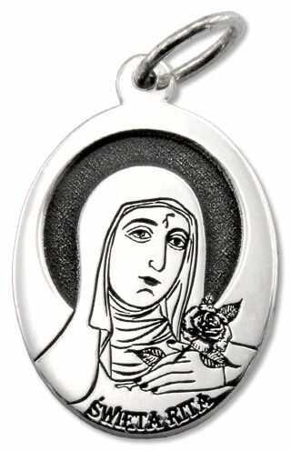 Medalik srebrny z wizerunkiem św. rity med-rita-01