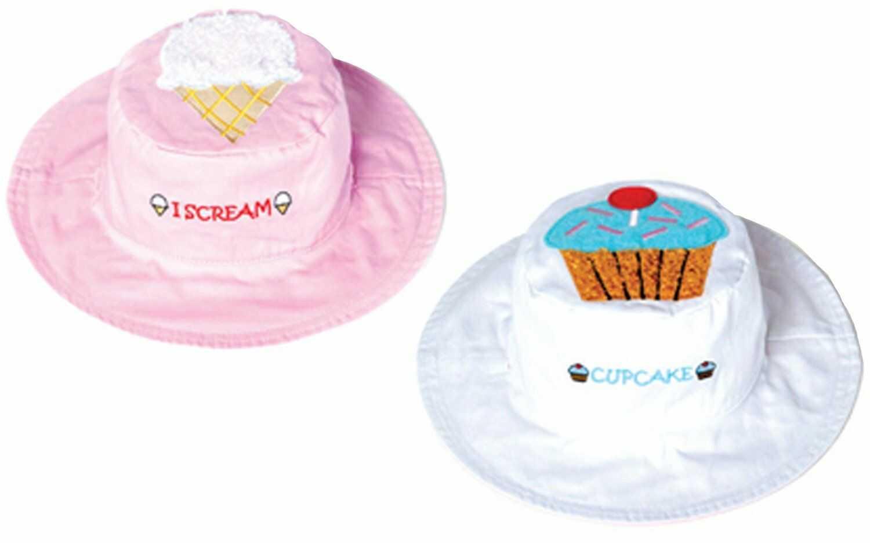 Luvali dziecięca czapka ochronna UV - różowy/biały, mała