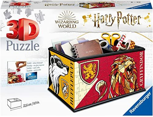 Ravensburger Puzzle 3D 11258 Ravensburger Szkatułka Harry Potter 216 Elementów Puzzle 3D (11258) Dla Dzieci I Dorosłych. Technologia Easy Click - Każdy Element Pasuje Idealnie