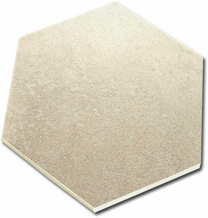 Hexágono Rift Crema 23x26,6