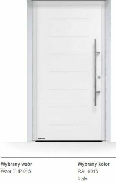 Thermo65 energooszczędne drzwi zewnętrzne - THP 015, kolory do wyboru
