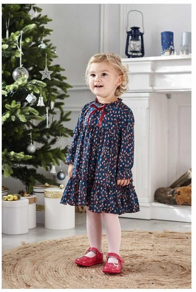 Kwiecista sukienka dla dziewczynki 86-110 Tesia zielona