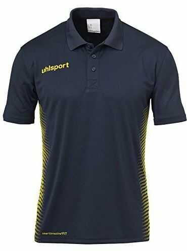 Uhlsport Score dziecięca koszulka polo dla dzieci, uniseks niebieski Marine/Fluo Gelb 164
