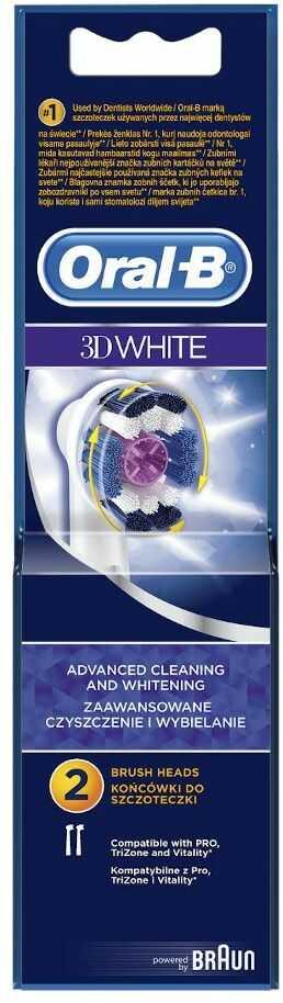 Oral-B 3D White 2szt. końcówki do szczoteczek