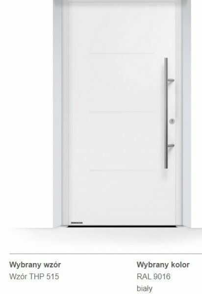 Thermo65 energooszczędne drzwi zewnętrzne - THP 515, kolory do wyboru