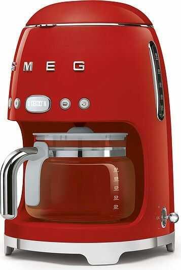 Ekspres przelewowy do kawy 50''s style dcf02 czerwony