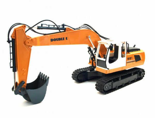 Koparka Heavy Industry 2.4GHz 3w1 (ruchoma łyżka, dźwięki, 3 różne akcesoria)