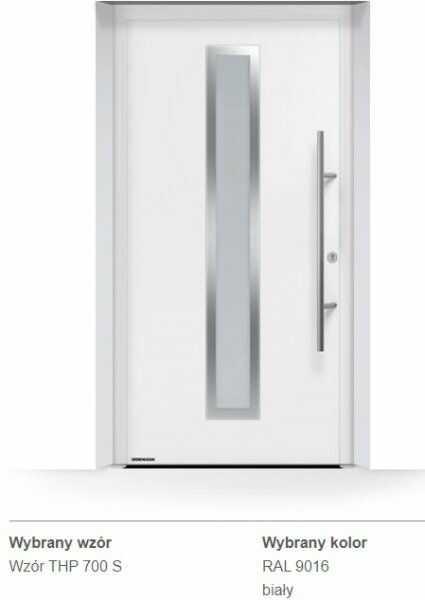 Thermo65 energooszczędne drzwi zewnętrzne - THP 700S, kolory do wyboru