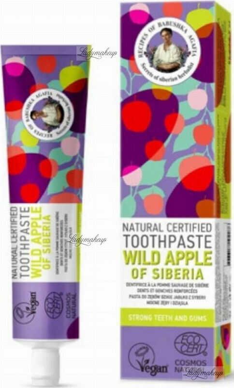 Agafia - Receptury Babuszki Agafii - Natural Toothpaste - Wild Apple of Siberia - Naturalna pasta do zębów - Dzikie Jabłko z Syberii - 85 g