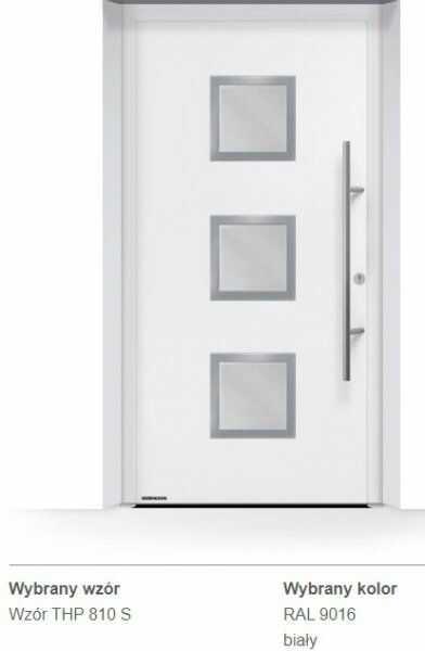 Thermo65 energooszczędne drzwi zewnętrzne - THP 810S, kolory do wyboru