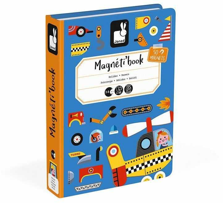 Puzzle magnetyczne dla dzieci świat motoryzacji J02715-Janod, układanka magnetyczna
