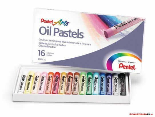 Kredki pastele olejne PENTEL 16kolorów PHN16