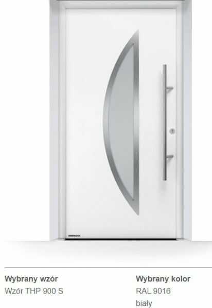 Thermo65 energooszczędne drzwi zewnętrzne - THP 900S, kolory do wyboru