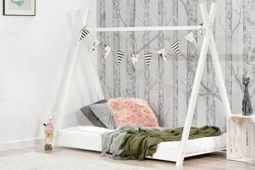 Łóżko 180x90cm Cheeky Monkey Tipi kolor biały