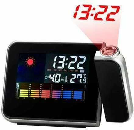 Stacja Pogody + Zegar + Laserowy Projektor Godziny.