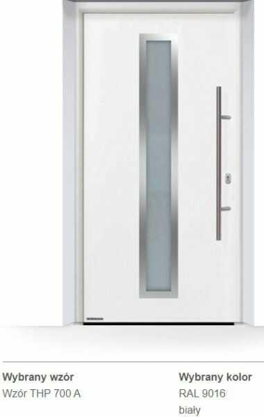 Thermo65 energooszczędne drzwi zewnętrzne - THP 700A, kolory do wyboru