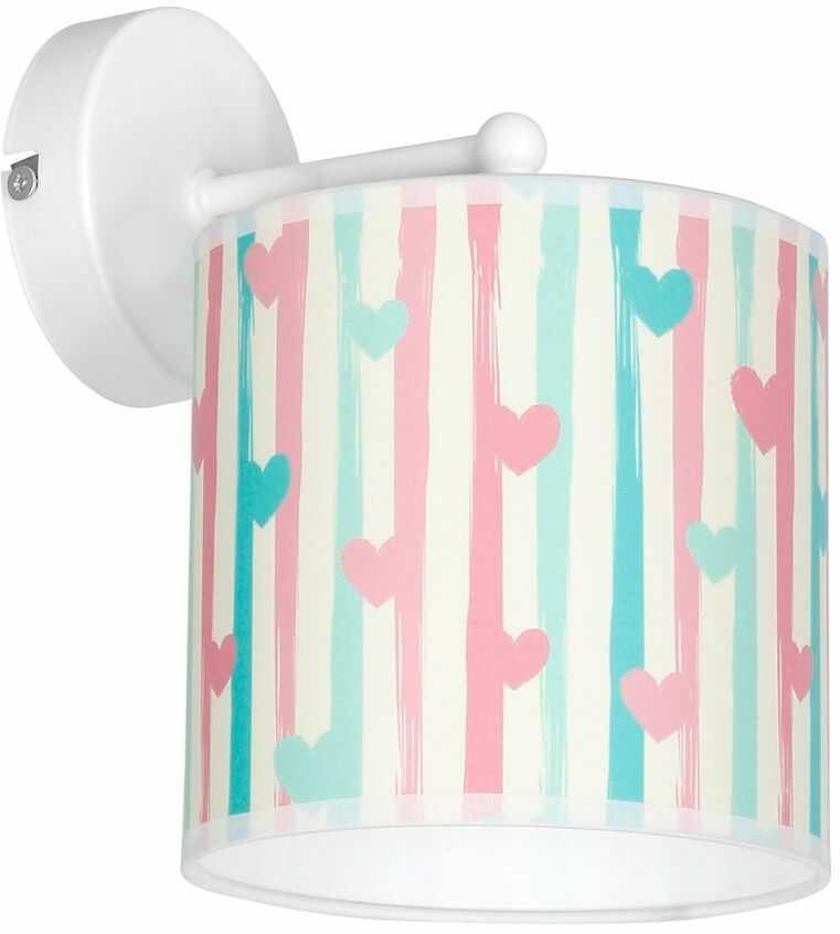 Milagro LOVELY MLP4945 kinkiet lampa ścienna dziecięcy klosz z motywem serca 1xE27 23cm