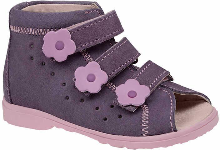 Sandałki Profilaktyczne Ortopedyczne Buty DAWID 1041 Fiolet FJ - Fioletowy Różowy Multikolor