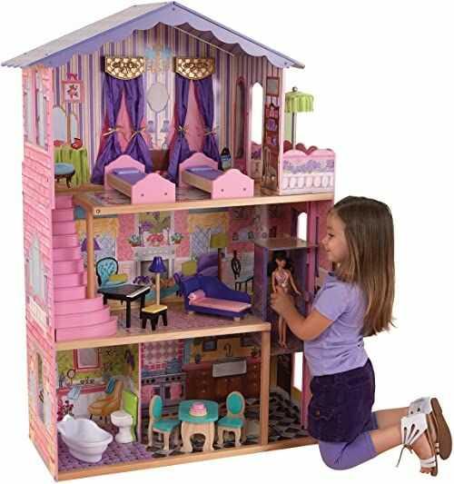 KidKraft 65082 domek dla lalek My Dream Mansion, różowy