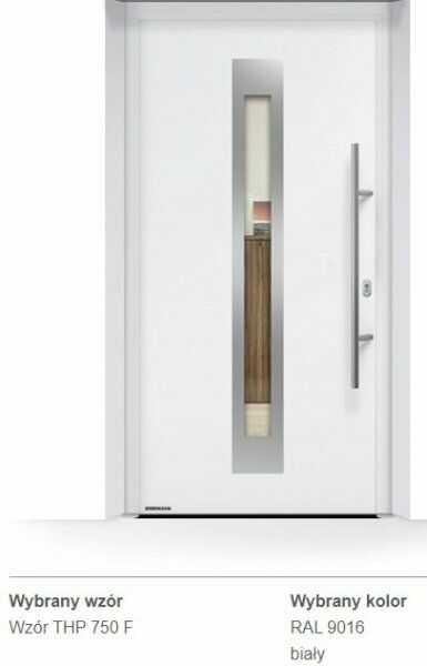 Thermo65 energooszczędne drzwi zewnętrzne - THP 750F, kolory do wyboru