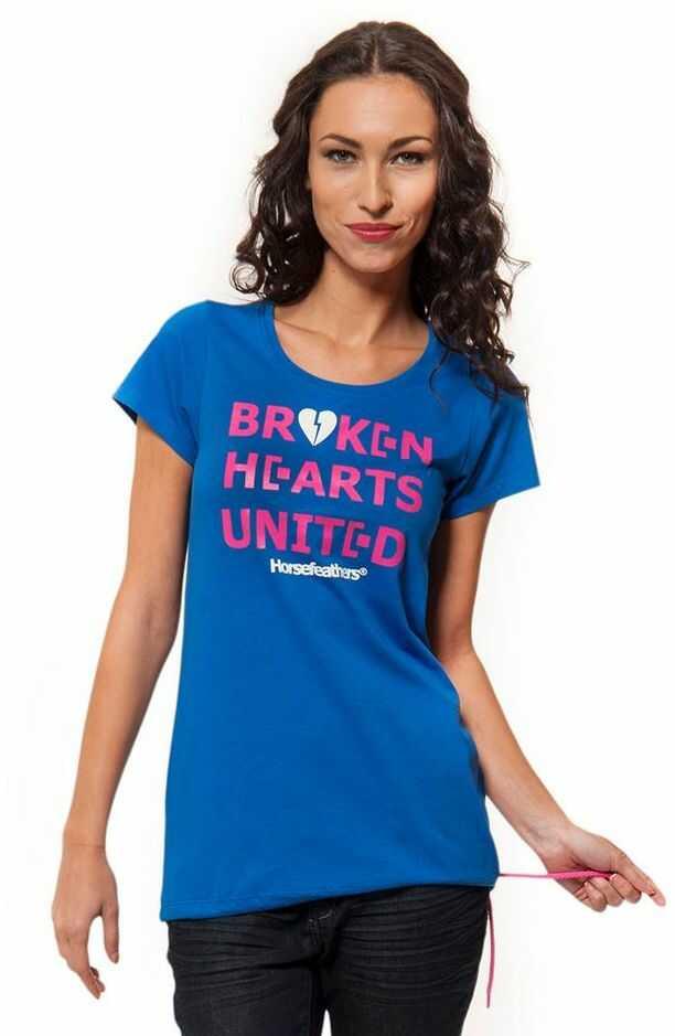 t-shirt damski HORSEFEATHERS UNITED TOP (blue)