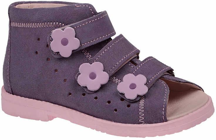 Sandałki Profilaktyczne Ortopedyczne Buty DAWID 1042 Fiolet FJ - Fioletowy Różowy Multikolor