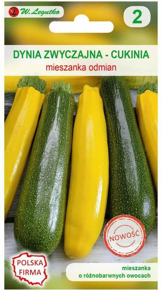 Dynia zwyczajna (Cukinia) MIESZANKA ODMIAN nasiona tradycyjne 1.5 g W. LEGUTKO