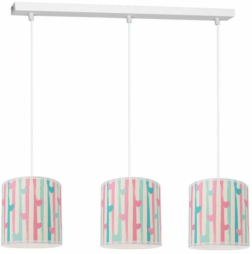 Milagro LOVELY MLP4947 plafon lampa sufitowa dziecięca trzy klosze regulacja zwisu 3xE27 65cm