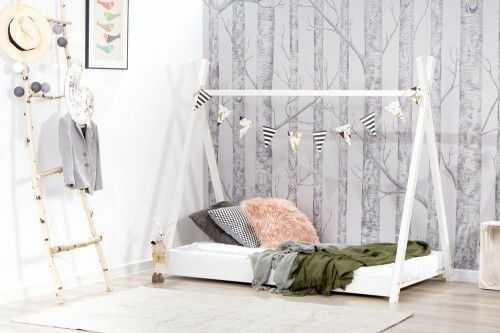 Łóżko 200x90cm Cheeky Monkey Tipi kolor biały