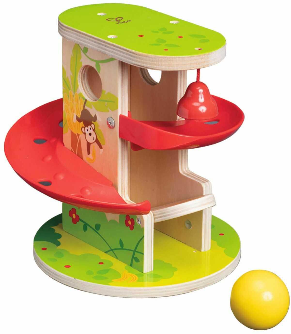 Hape E0508 Prasa i zjeżdżalnia do dżungli - drewniana zabawka dla małych dzieci
