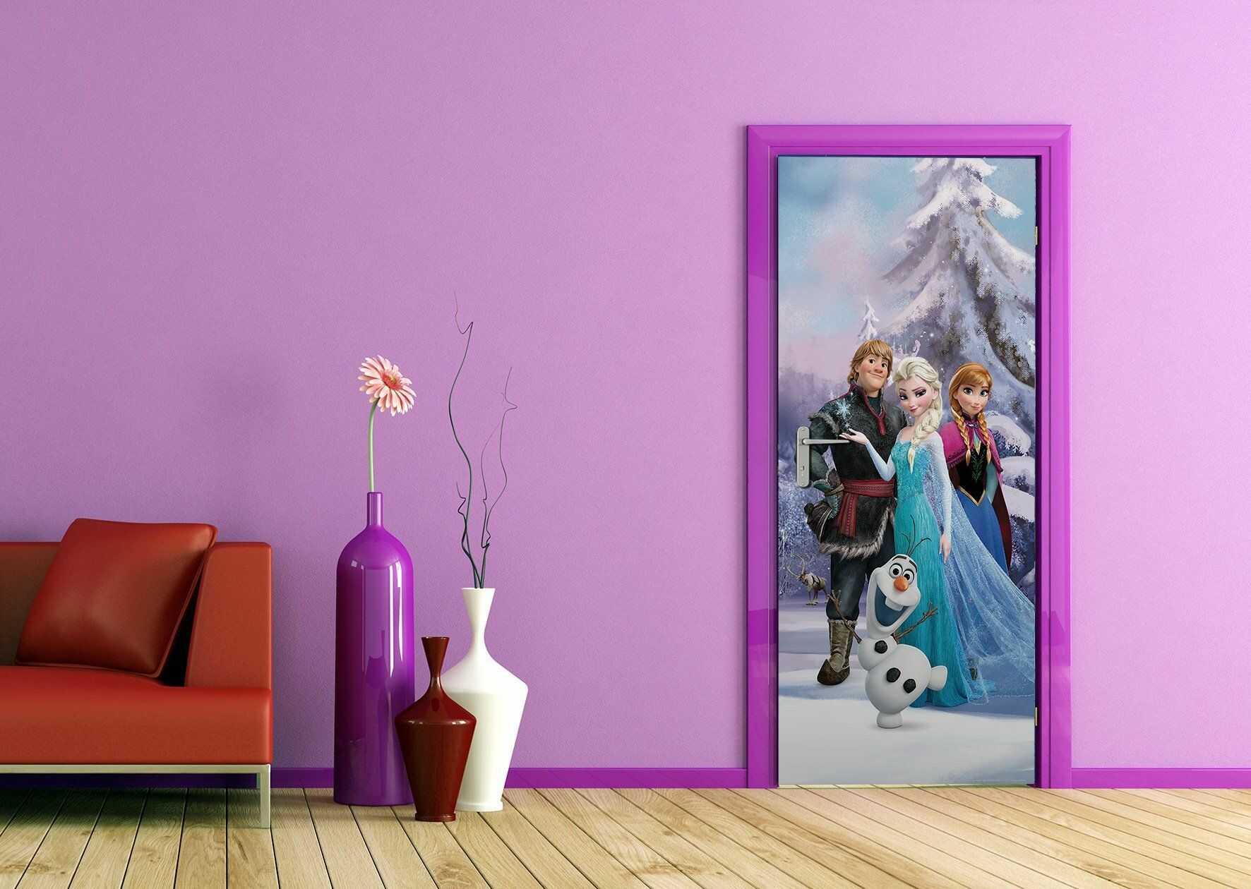 AG Design Disney Frozen fototapeta do pokoju dziecięcego, papier wielokolorowy, 0,1 x 90 x 202 cm