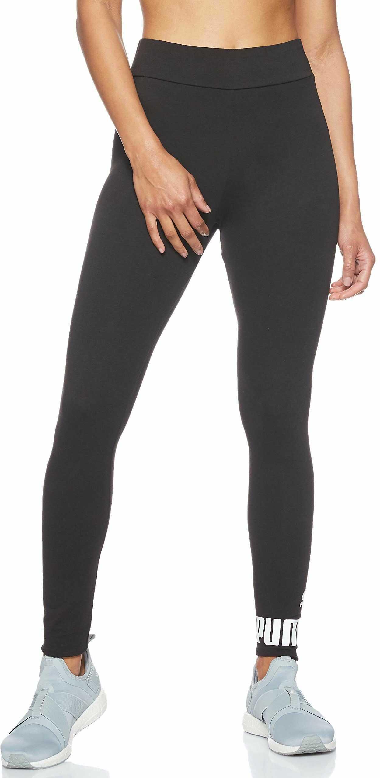 PUMA Damskie legginsy sportowe z logo ESS czarny czarna bawe?na XS
