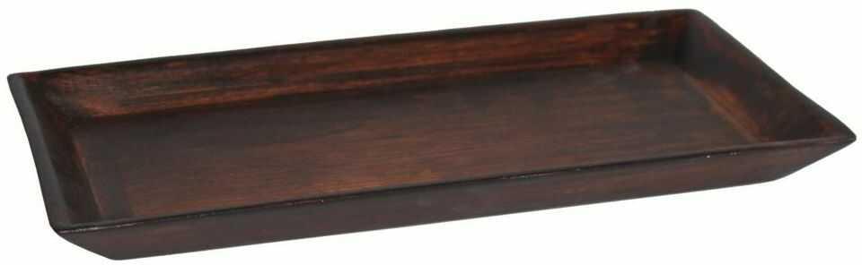 Świecznik ceramiczny Prostokąt 15 x 29 cm brązowy